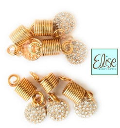 Gold Braid Hair Coil Twister Ring - Elise Beauty Supply