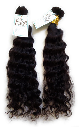 Indian Human braiding hair Virgin human hair 18 inch Deep Wave