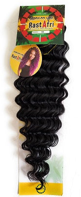 Jamaican Curl Crochet Braid Wavy Hair ,color 1B