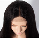 Frontal Lace Wig Kinky Straight Human Hair - Elise Beauty Supply