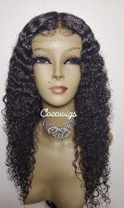 Indian Curly human hair bundles- custom wig by CocoWigs