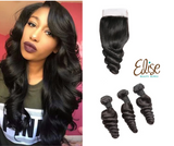 2020 hair model loose wave human hair 3 bundles with closure
