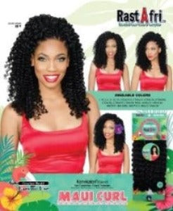 RastAfri Maui Curl Crochet Braid Hair 1B - Elise Beauty Supply