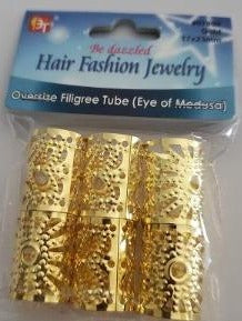 Hair Jewelry filigree tube 23 mm for braids, dreads, twists