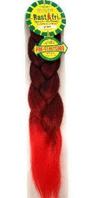 RastAfri Pre-Stretched Freed'm Silky Braid 1B/Red - Elise Beauty Supply