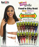 RastAfri Freed'm, Silky Braid Pre-Stretched 1B Blue - Elise Beauty Supply