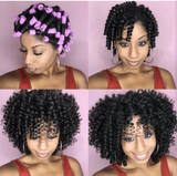 Cold wave rods, lilac, elisebeautysupply.com, spiral curls, natural hair, extensions