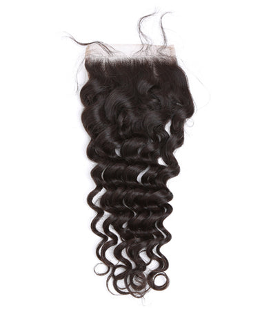 deep curly 4x4 Closure, natural brown, elisebeautysupply.com