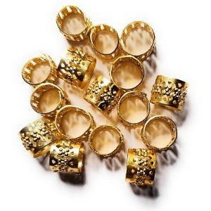 Braid Hair Jewels Cuffs 10 mm - Elise Beauty Supply