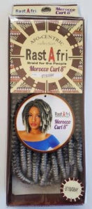 RastAfri Morocco Curl 8 inch 1B/Gray Coil Crochet hair - Elise Beauty Supply