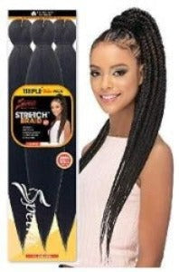 "Vivica A. Fox Amore Mio Collection EZReady Braid 25"" Pre-Stretched 99J/1B"