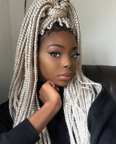 White box braids for black women