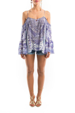 CHYNA BLUE COLLECTION GYPSY TUNIC TOP