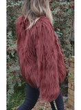 MARMONT FAUX FUR JACKET IN WINE