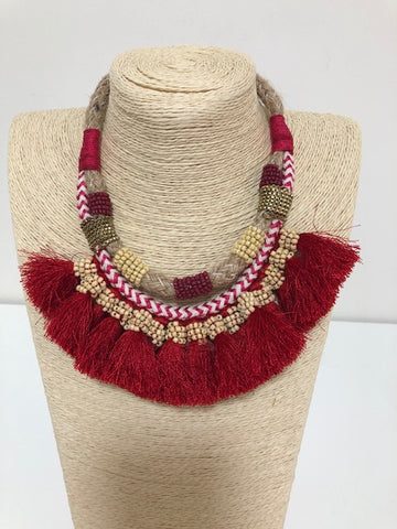 AFRICAN INSPIRED WOVEN ROPE NECKLACE