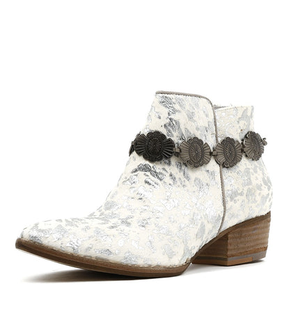 LEROY WHITE AND SILVER PONY BOOT