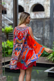 FORBIDDEN TEMPLE KAFTAN DRESS