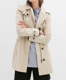 Zara Black Trench Coat
