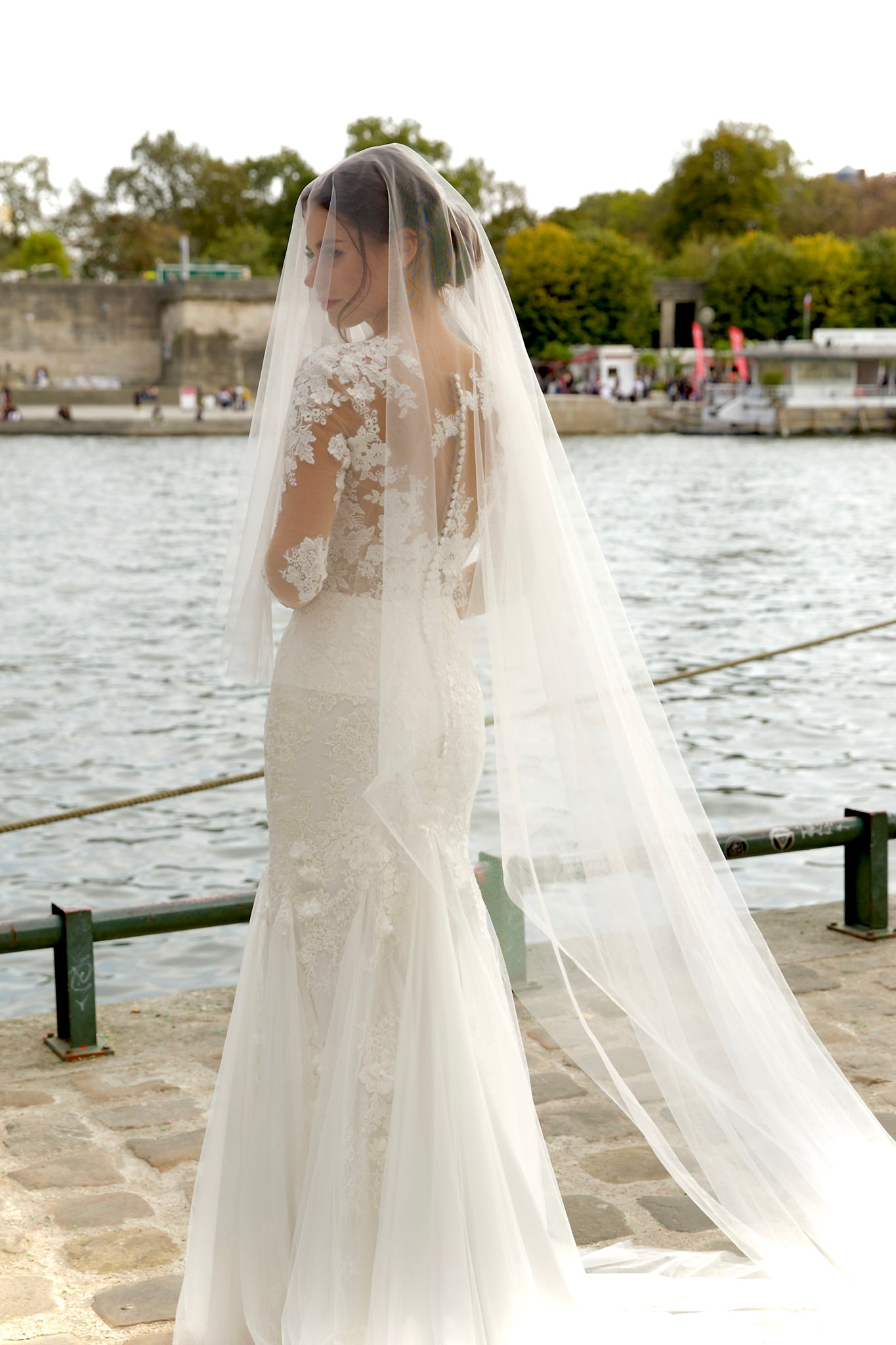 Two layers tulle Covering face veil