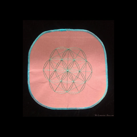 Embroidered Grid Cloth-Accessories-The Lemurian Rose