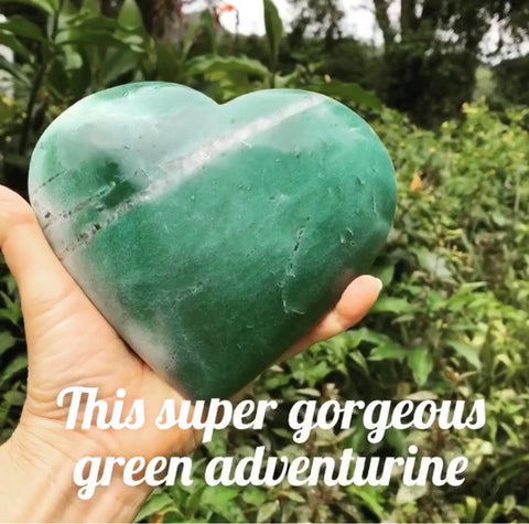 HUGE Green Aventurine Heart