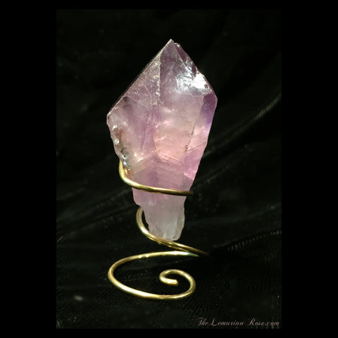amethyst point with stand