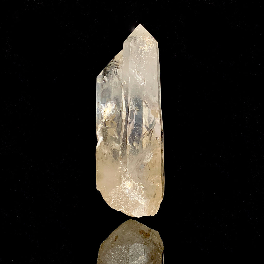 Smoky Pink Lemurian Soulmate Triplet with Manifestations-polished lemurian-The Lemurian Rose