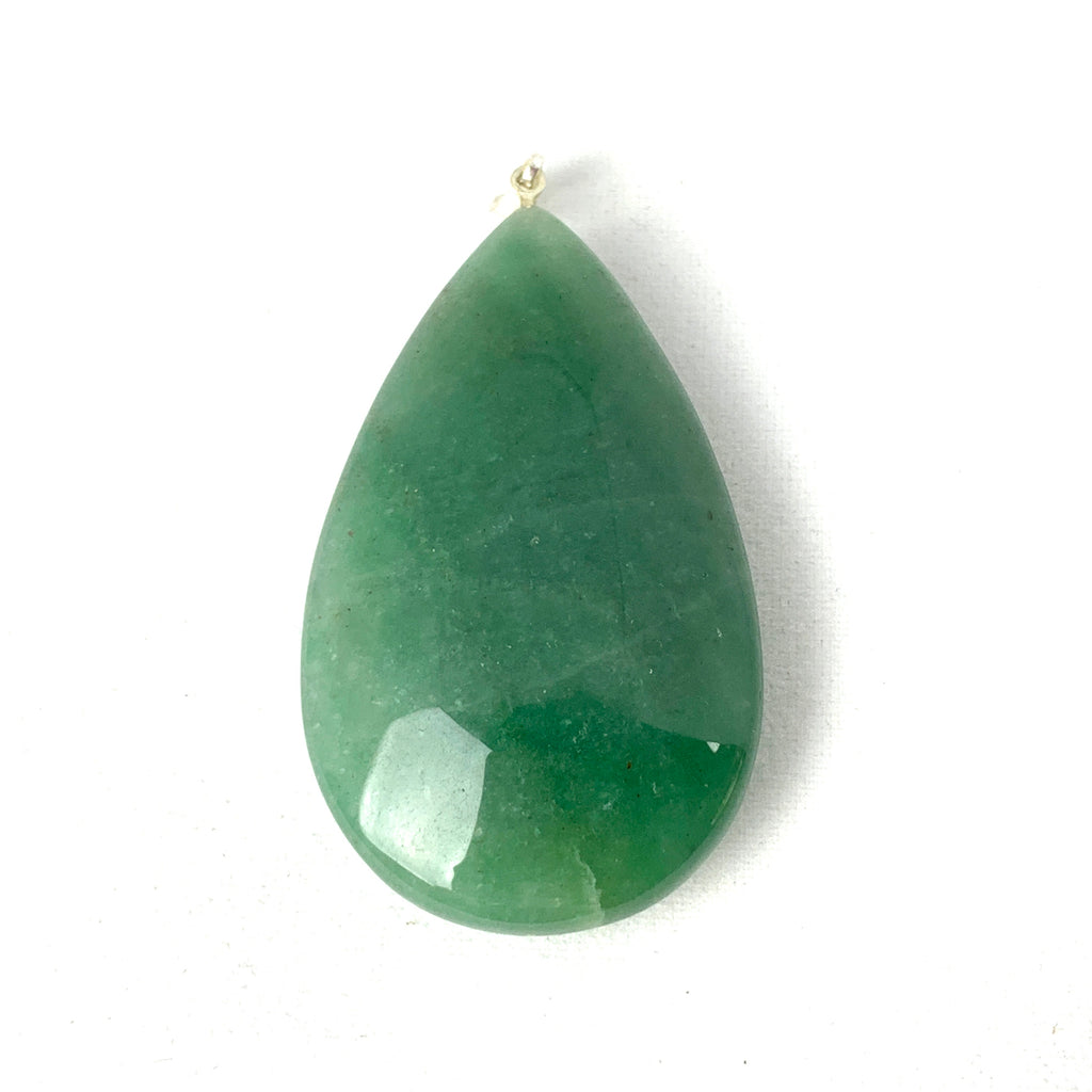Green Aventurine Drop Pendant-jewelry-The Lemurian Rose