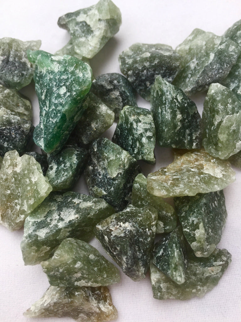 Emerald Quartz- small rough-The Lemurian Rose