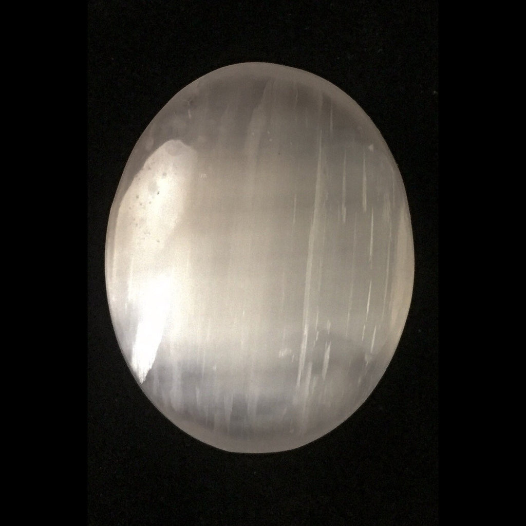 Selenite Palm Stone-The Lemurian Rose