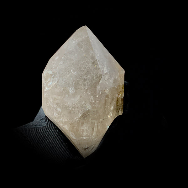 Fenster Quartz With Five Moving Bubbles-Fenster quartz with fluid inclusions-The Lemurian Rose