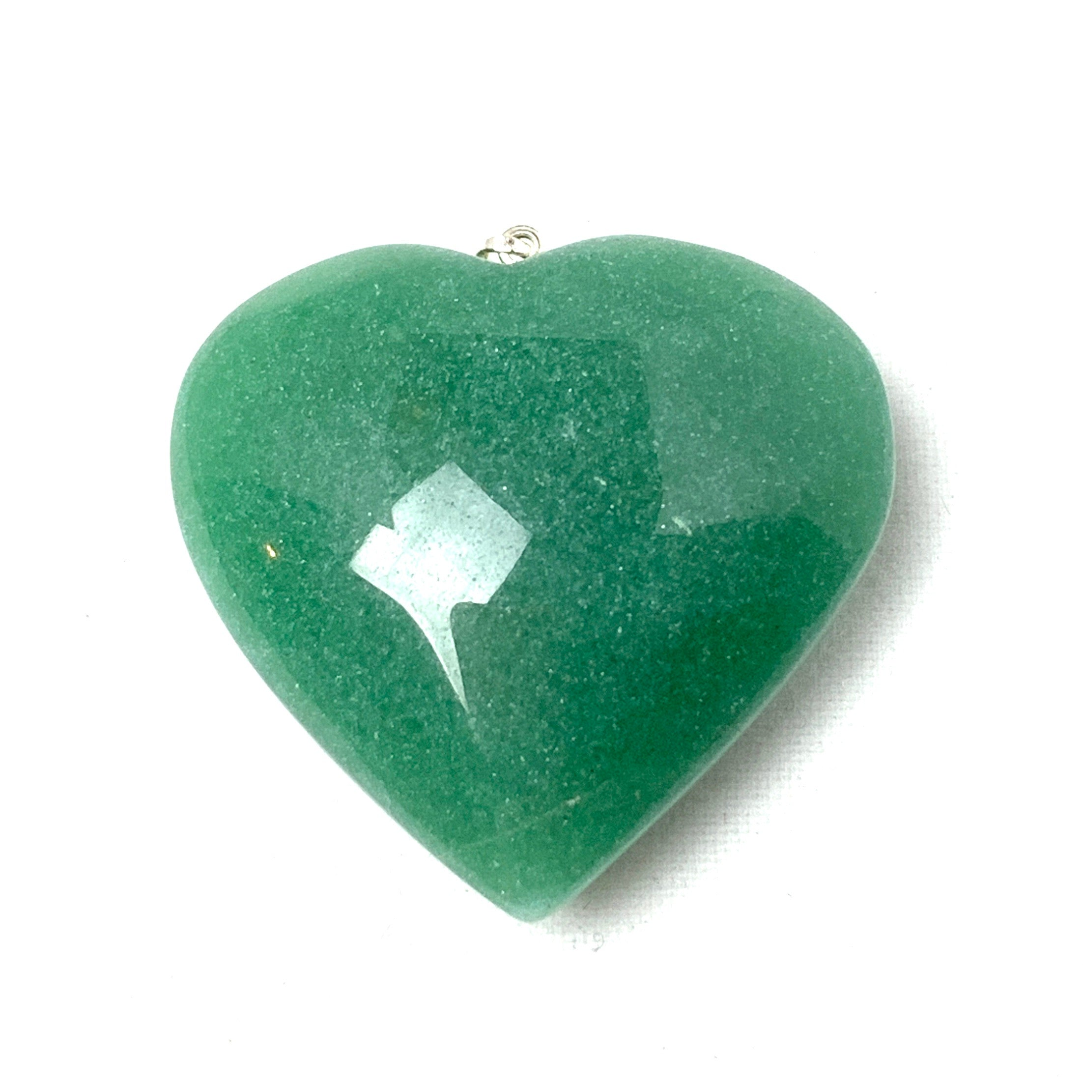 Green Aventurine Heart Pendant-jewelry-The Lemurian Rose