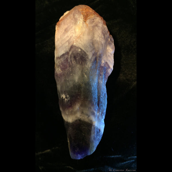 Chevron Amethyst with Stand-Chevron Amethyst Point-The Lemurian Rose