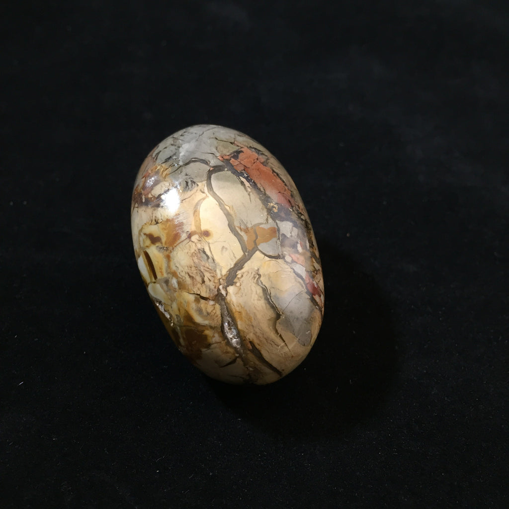 Ibis Jasper Pebble-Palm stone-The Lemurian Rose