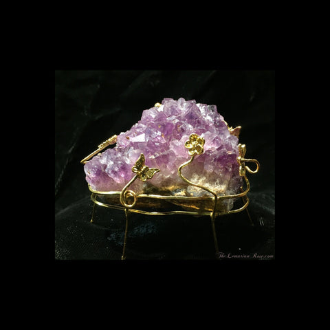 Amethyst Cluster with Stand-Amethyst Cluster-The Lemurian Rose