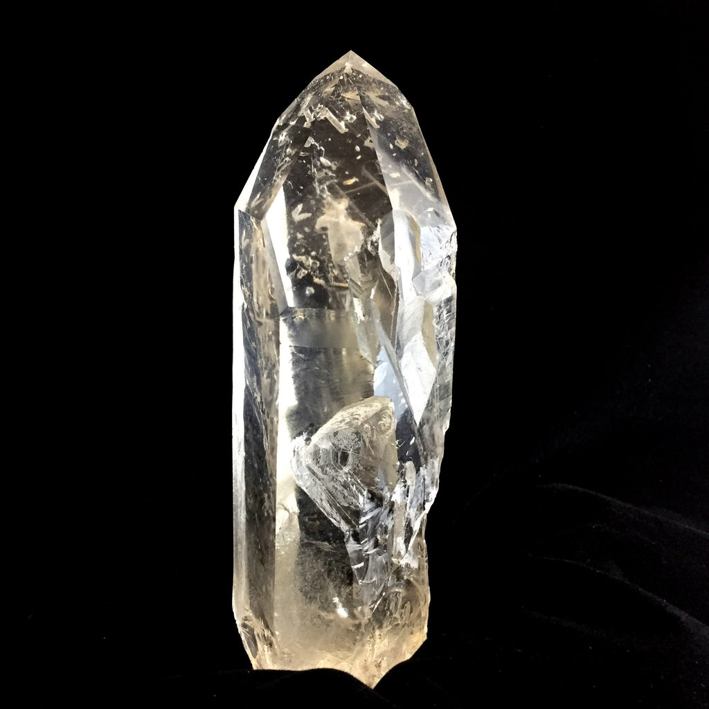 Ice Clear Lemurian with Isis Face-The Lemurian Rose