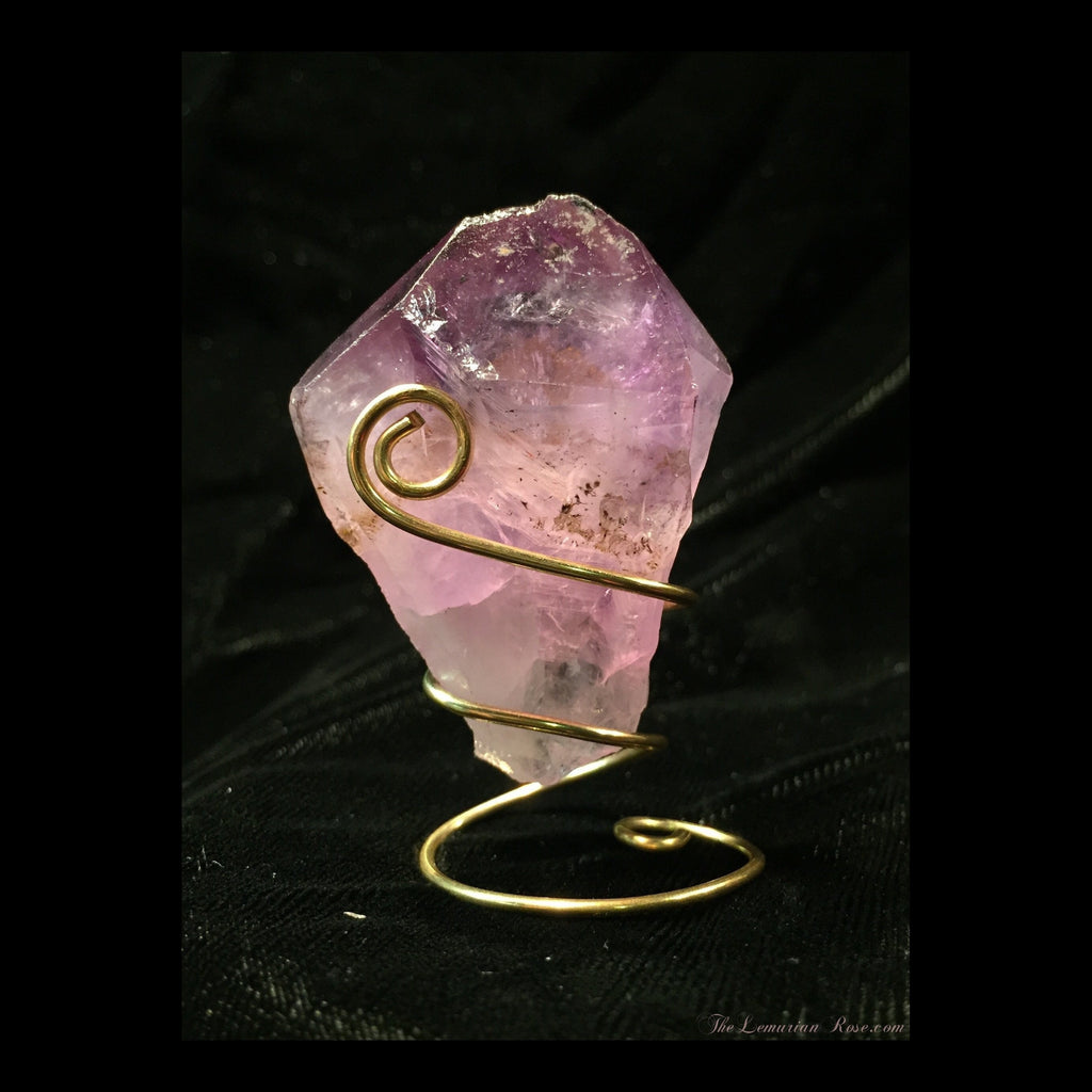 Amethyst Point with Stand-Amethyst Point-The Lemurian Rose