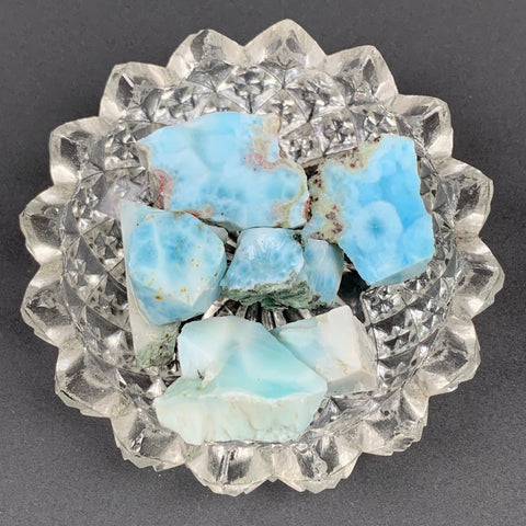 Rough Larimar-20 gram bag