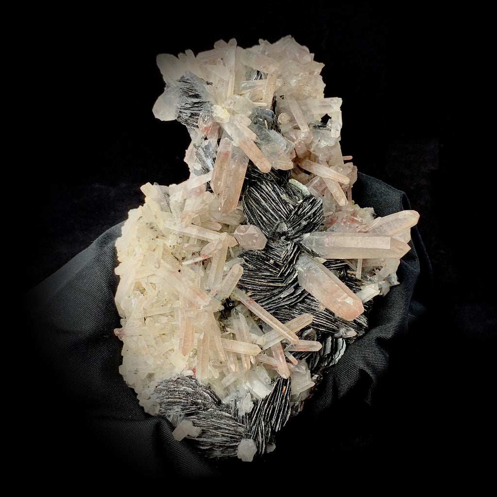 Lithium Cluster With Muscovite-lithium quartz specimen-The Lemurian Rose