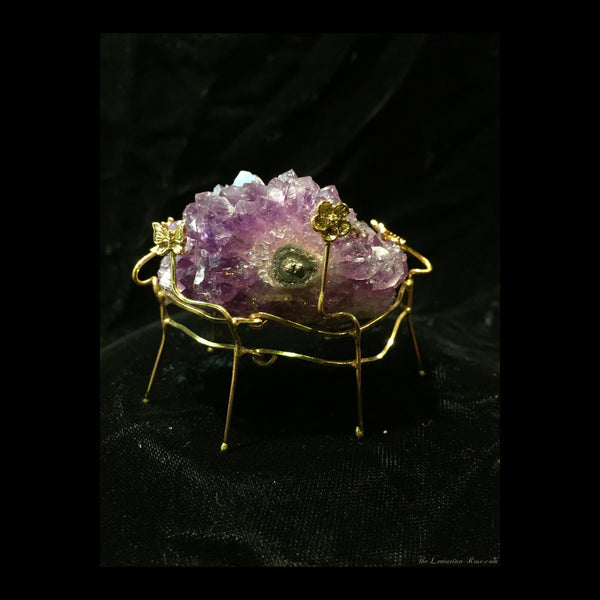 amethyst cluster with stand