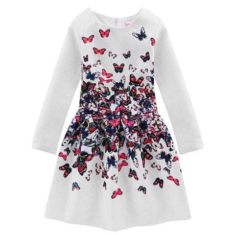 Butterfly Print Family Dresses Mom and Daughter Matching Clothes