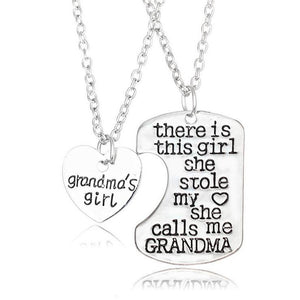 I Love You Grandma Zinc Alloy Necklaces