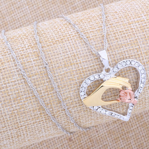 Mother And Child Love Pendant Necklace