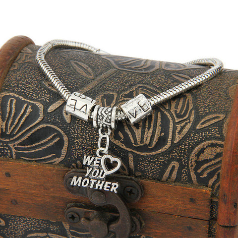 Mom Vintage Bangle Chain Bracelets