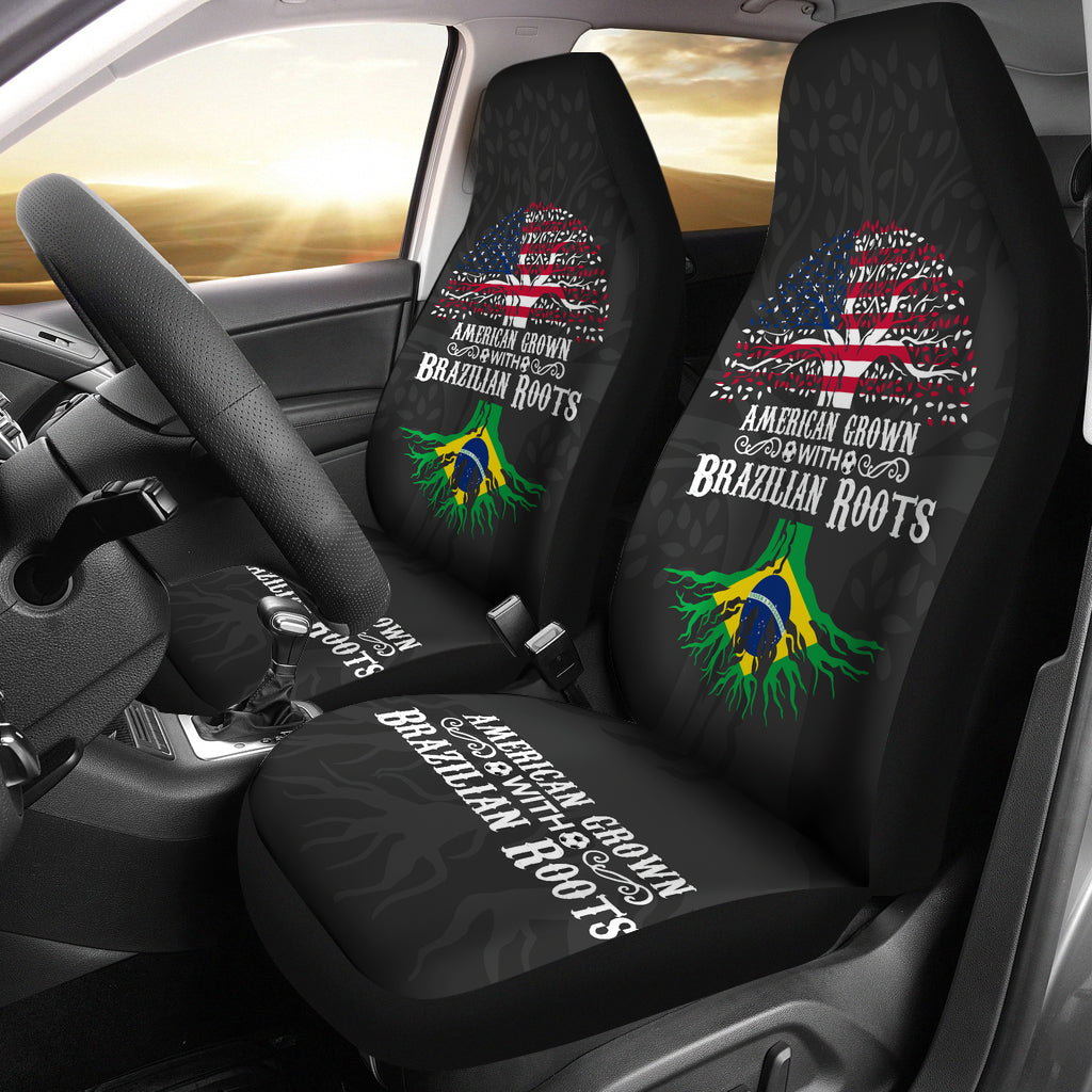 American Grown with Brazilian Roots Premium Car Seat Cover – sole ...