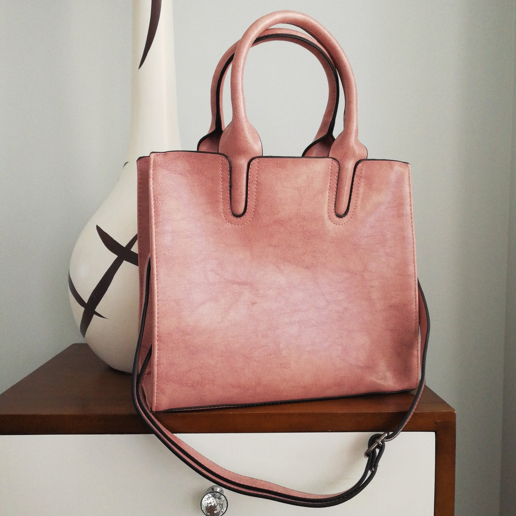 Pink Clay Tote