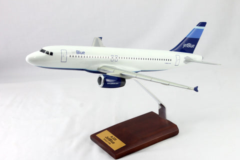 A320 JetBlue Airlines Wood Model 1/100
