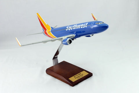 B-737 Southwest Airlines Wood Model 1/100