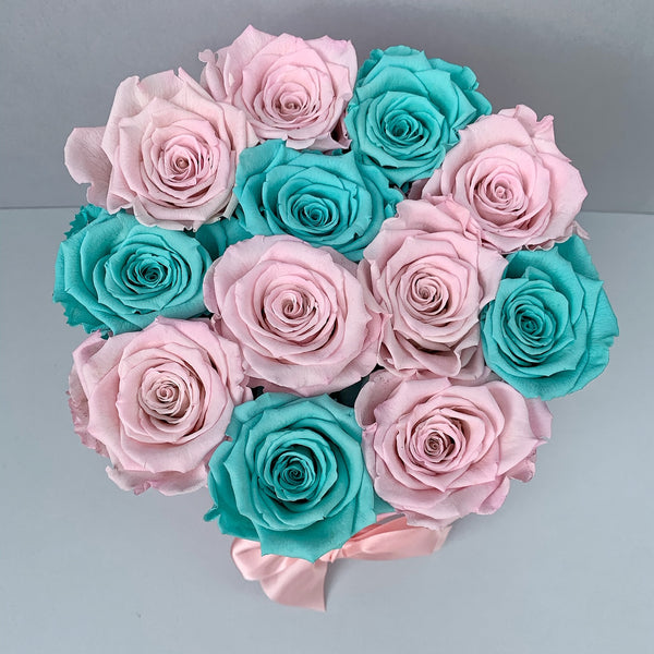 Mille Rose - Senza Tempo - Small Box - Rose Tiffany e Rosa - Scatola Rosa