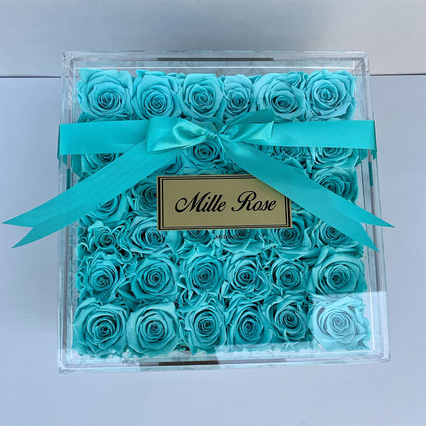 Senza Tempo  - Square Box Cristallo - Rose Tiffany